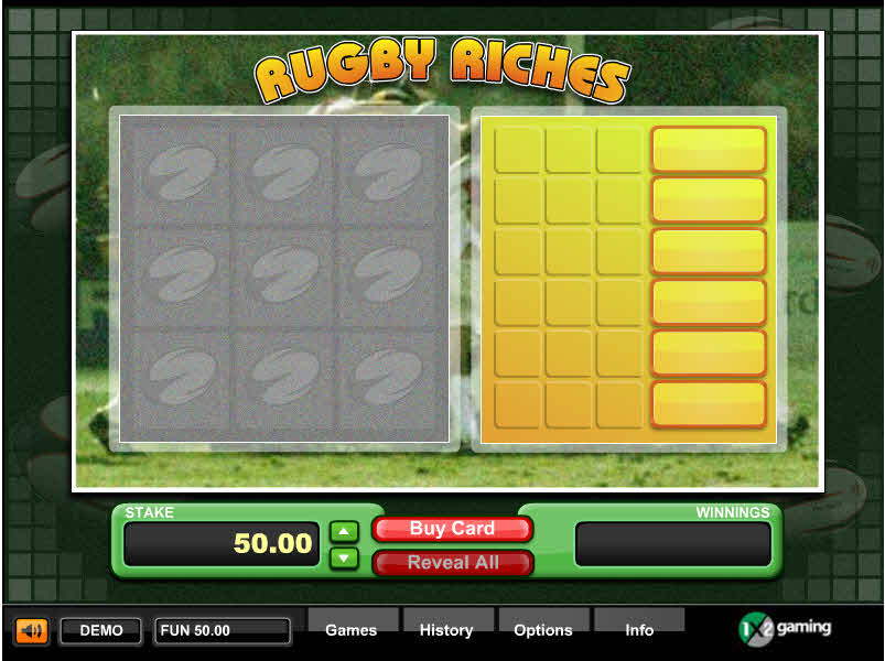 Rugby Riches MCPcom 1x2Gaming