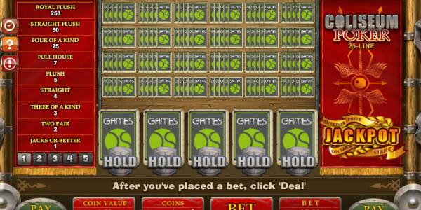 25-Line Coliseum Poker MCPcom Gamesos
