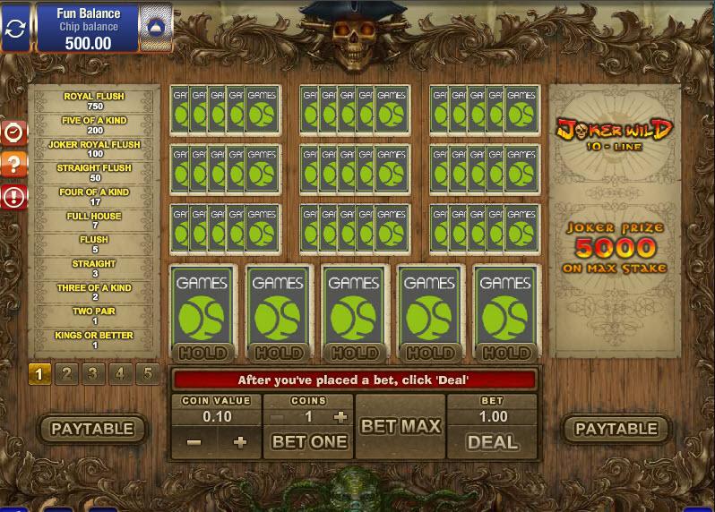 10-Line Joker Wild MCPcom Gamesos10-Line Joker Wild MCPcom Gamesos