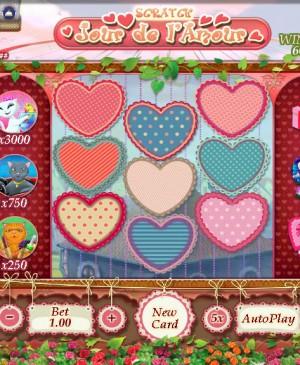 Jour de l'amour scratch MCPcom Gamesos