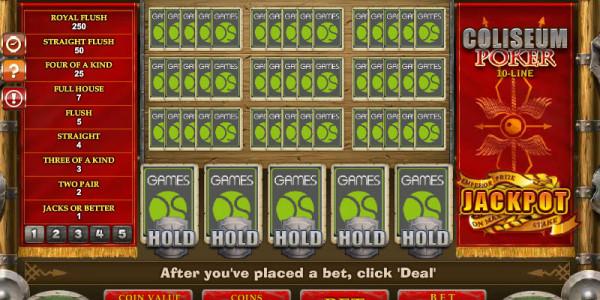 10-Line Coliseum Poker MCPcom Gamesos3