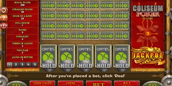 25-Line Coliseum Poker MCPcom Gamesos3