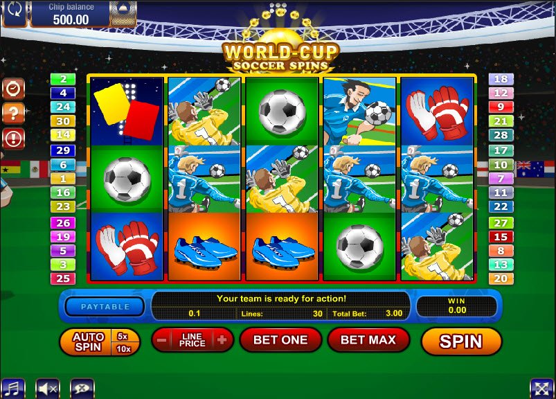 World-Cup Soccer Spins MCPcom Gamesos