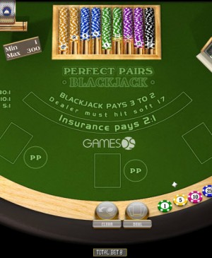 Perfect Pairs Blackjack MCPcom Gamesos