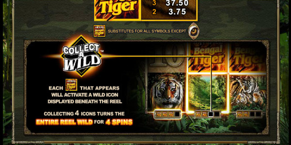 Untamed Bengal Tiger MCPcom Microgaming pay