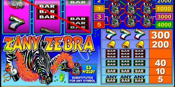 Zany Zebra MCPcom Microgaming3