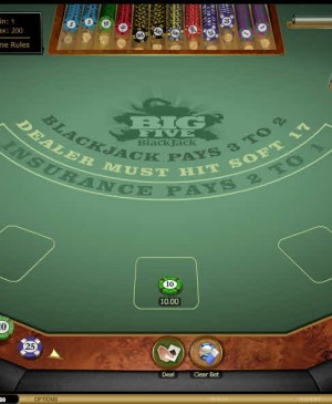 Big 5 Blackjack MCPcom Microgaming