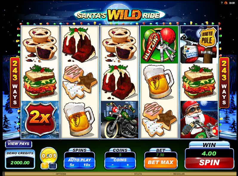 Santa's Wild Ride MCPcom Microgaming