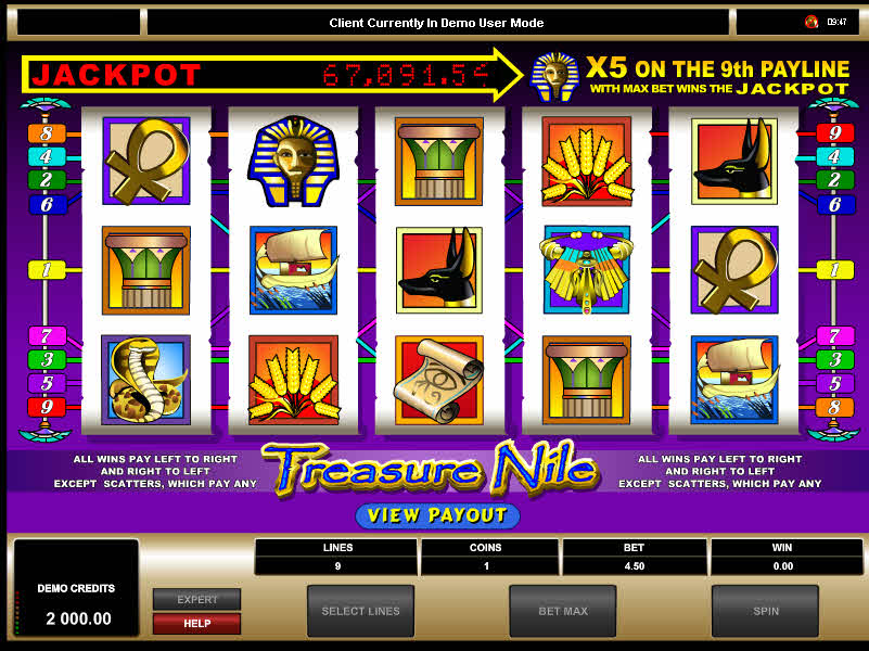 Treasure Nile MCPcom Microgaming