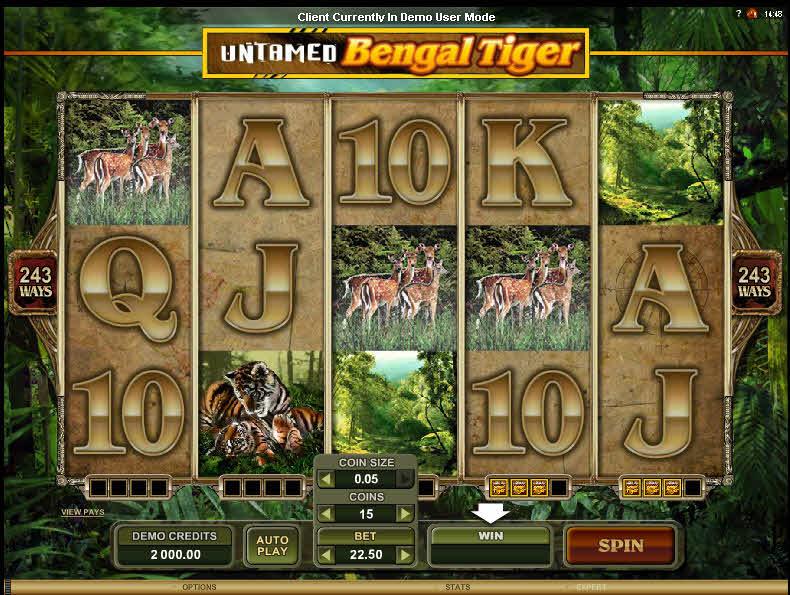 Untamed Bengal Tiger MCPcom Microgaming