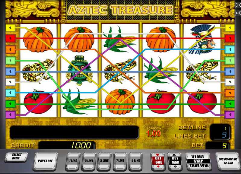 Aztec Treasure MCPcom Novomatic