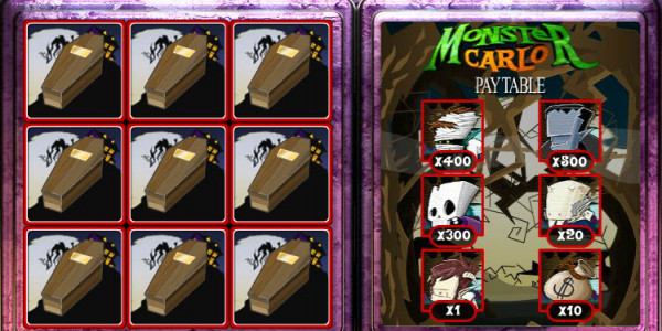 Monster Carlo Scratch Card MCPcom OpenBet