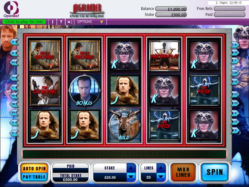 Highlander Slot MCPcom OpenBet