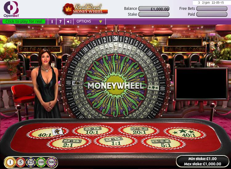 Real Deal Money Wheel MCPcom OpenBet