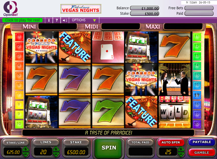 Vegas Nights MCPcom OpenBet