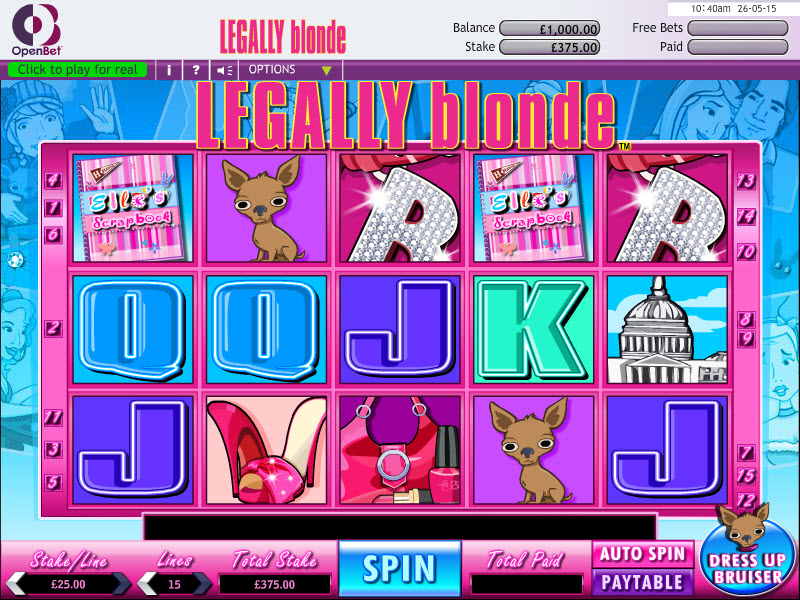 Legally Blond Slot MCPcom OpenBet