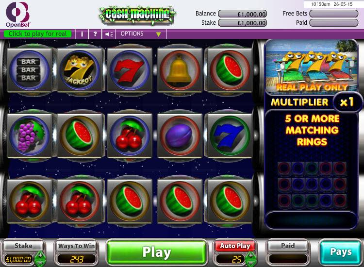 Cash Machine MCPcom OpenBet