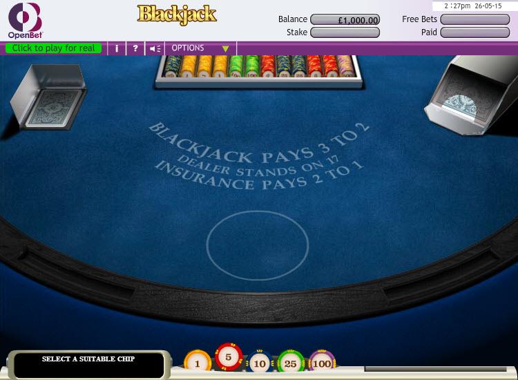 Blackjack MCPcom OpenBet
