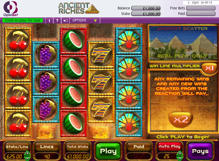 Ancient Riches Cashdrop MCPcom OpenBet