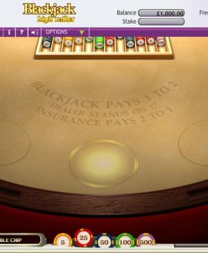 Blackjack Euro 3 Hand Hi Roller MCPcom OpenBet