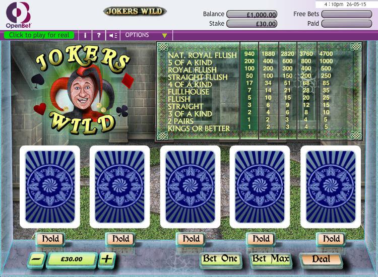 Jokers Wild MCPcom OpenBet