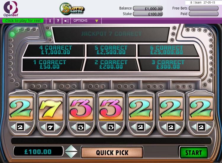 Lucky Sevens MCPcom OpenBet