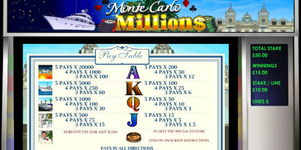 Monte Carlo Millions MCPcom OpenBet pay