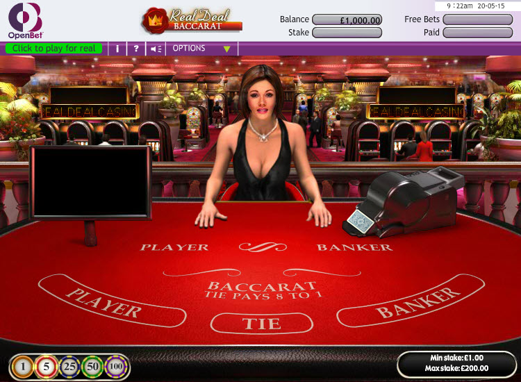 Real Deal Baccarat MCPcom OpenBet
