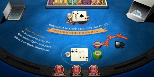 Blackjack Super Fun 21 MCPcom OpenBet3