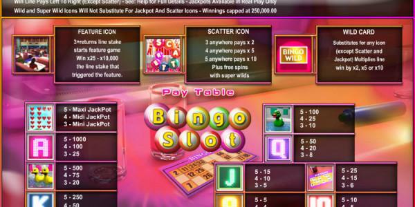 Bingo Slot  MCPcom OpenBet pay