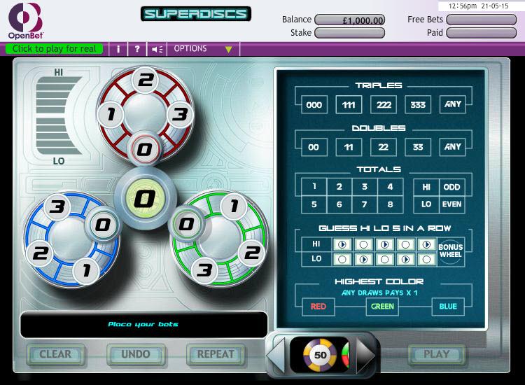 Super Discs MCPcom OpenBet