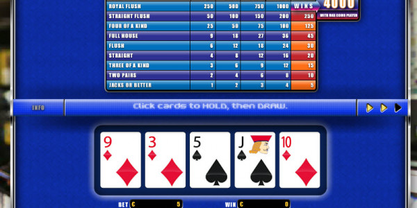 Jacks or Better  MCPcom Oryx Gaming3