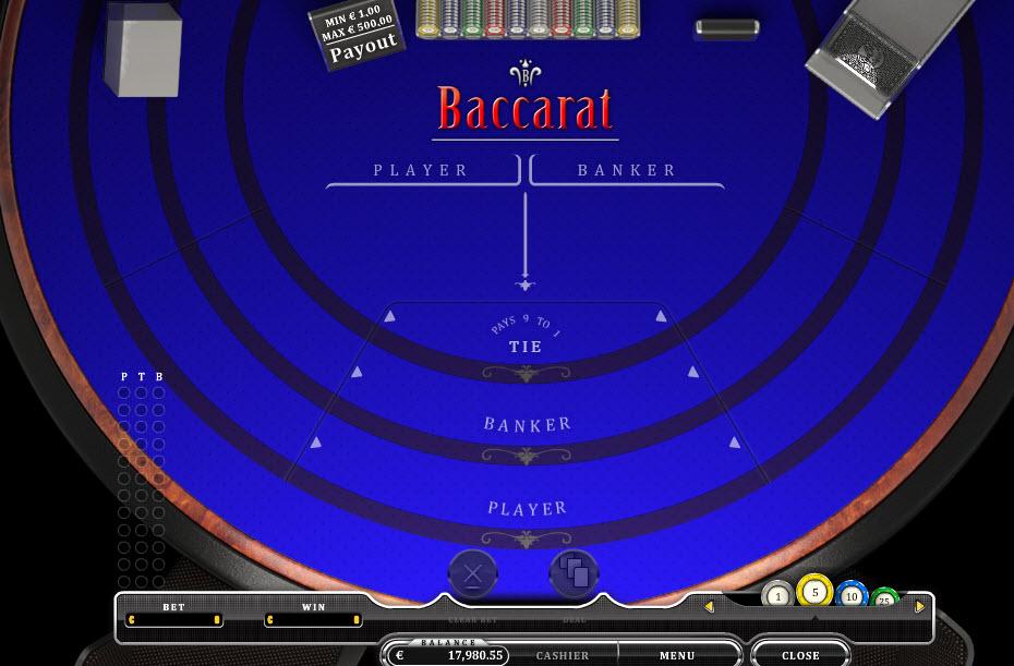 Baccarat MCPcom Oryx Gaming