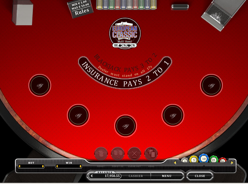 Multi Hand Blackjack MCPcom Oryx Gaming