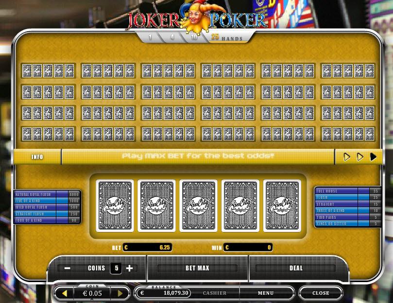 Joker Poker MCPcom Oryx Gaming