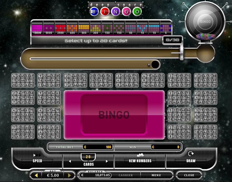 Deep Space Bingo MCPcom Oryx Gaming