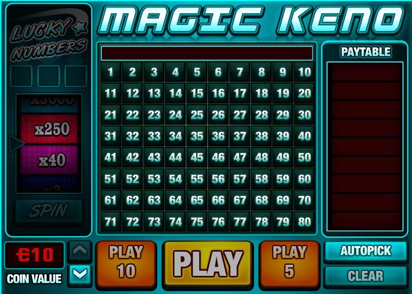 Magic Keno MCPcom PariPlay