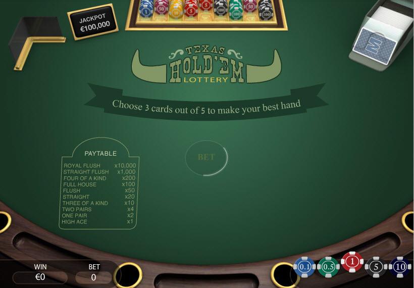 Texas Hold'em Lottery MCPcom PariPlay