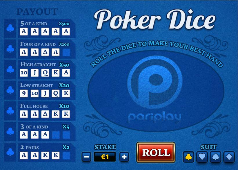 Poker Dice MCPcom PariPlay