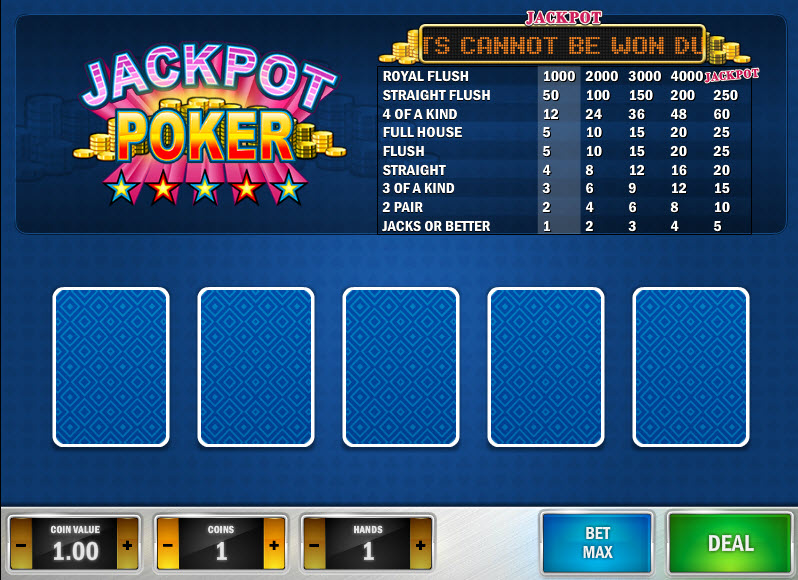 Jackpot Poker MCPcom Play'n GO