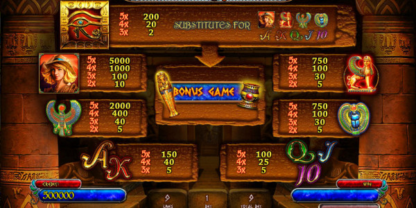 Treasures Of Tombs Bonus MCPcom Playson (Globotech) pay