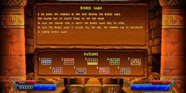 Treasures Of Tombs Bonus MCPcom Playson (Globotech) pay2