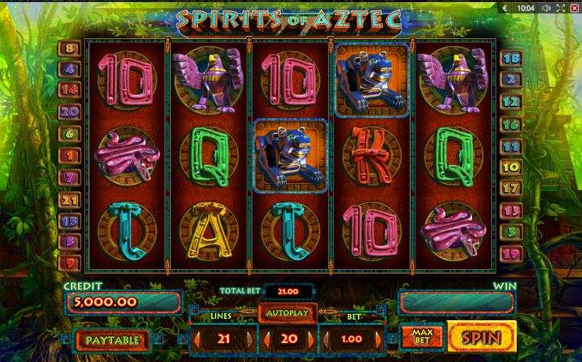Spirits of Aztec MCPcom Playson (Globotech)