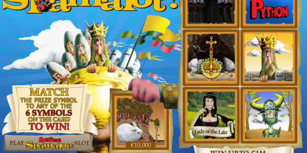 Monty Python's Spamalot Scratch MCPcom Playtech2