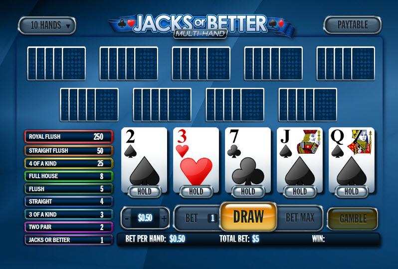 Jacks or Better Multihand MCPcom Playtech
