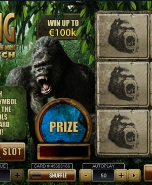 Kong: The Eighth Wonder Of The World Scratch MCPcom Playtech