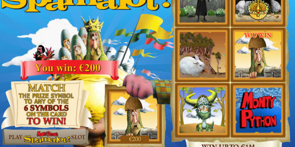 Monty Python's Spamalot Scratch MCPcom Playtech3