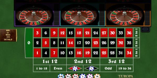 Multi Wheel Roulette CPcom Playtech3
