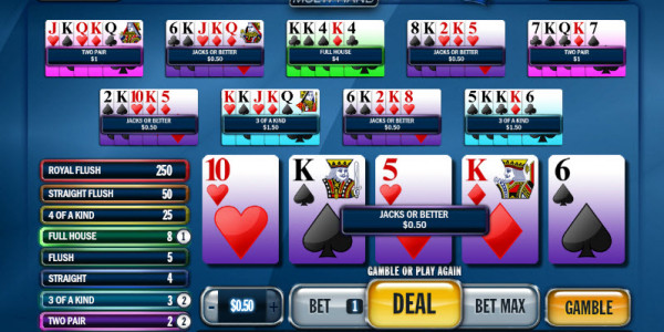 Jacks or Better Multihand MCPcom Playtech win