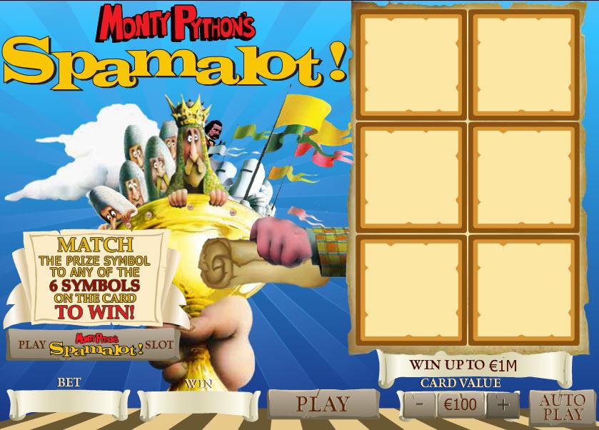 Monty Python's Spamalot Scratch MCPcom Playtech